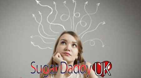 sugarbabe looks up with a questioning face and question marks around